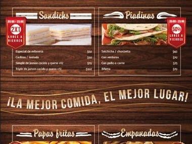 diseño de carta de restaurant