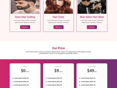 website for cosmetic and salon