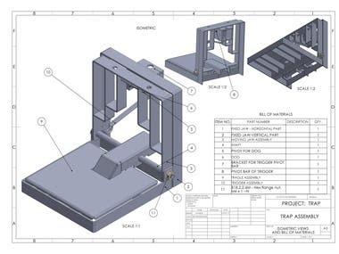 TRAP: MODELING AND ENGINEERING DRAWING IN SOLIDWORKS
