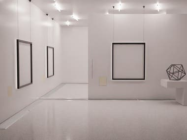 3d minimalistic museum
