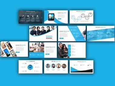 Blue schemed power point presentation