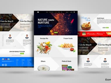 A1 Spices website and development