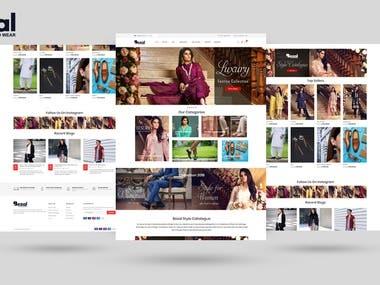 Bezal Fashion Store Ecommerce Website