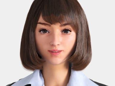 Realistic 3D character