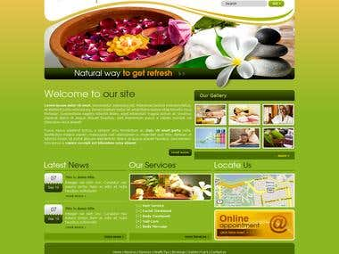 Design and booking application Spa and healthcare center