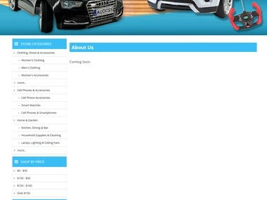 Responsive eBay store and Template design