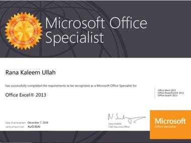 Microsoft Office Specialist(MOS)