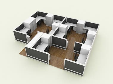 3D FLOOR PLAN WITH 3DS MAX