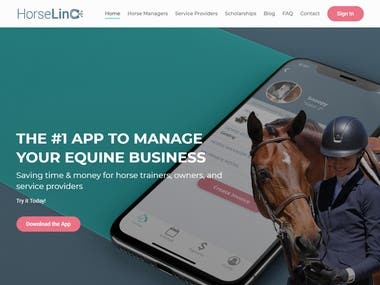 Website UI Design and Front-End Development