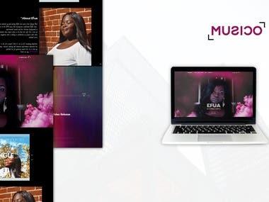 EFUA Music - WordPress Website