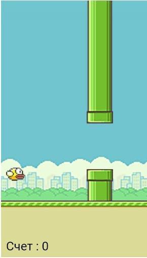 Popular game Fluppy bird