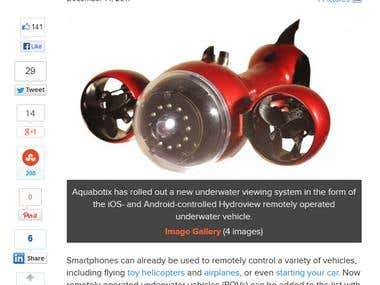 The smartphone controlled Aquabotix Hydroview underwater veh