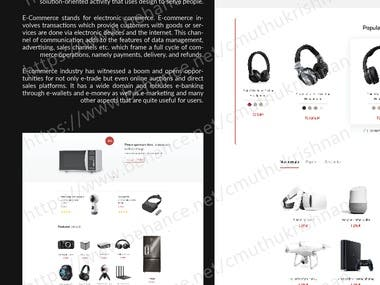 E-COMMERCE UI DESIGNS