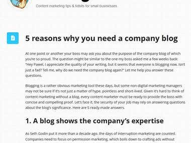 5 reasons why you need a company blog