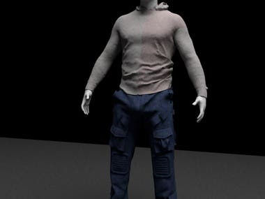 Clothing a character in marvelous designer
