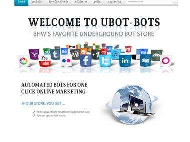 Ubot Bots website