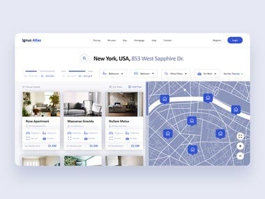 Ignus Atlas Real Estate Landing Page Design