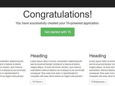Yii2 Web Application