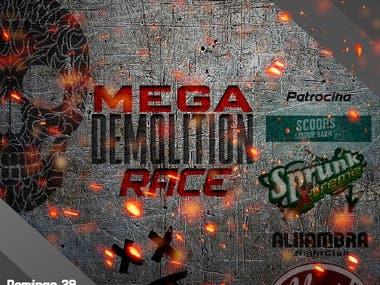 PROTON Demolition RACE poster