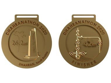 3D Designs for 3D printing: medal, keychain, etc.