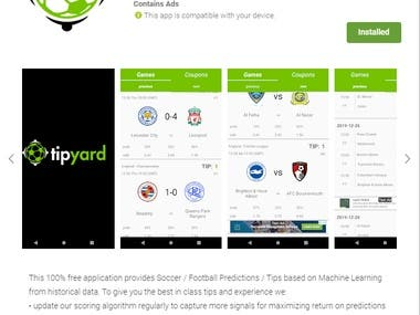 Tipyard - Soccer Predictions