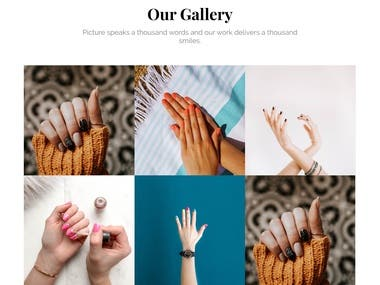 Nail Saloon website