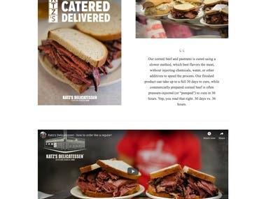 Katz's Delicatessen -Magento 2.3 Based Restaurant Website