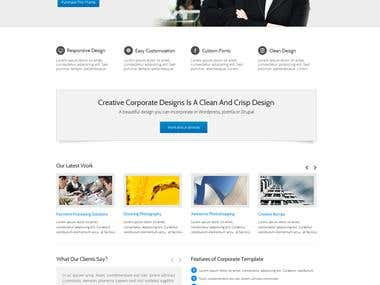 Creative Corporate PSD To HTML