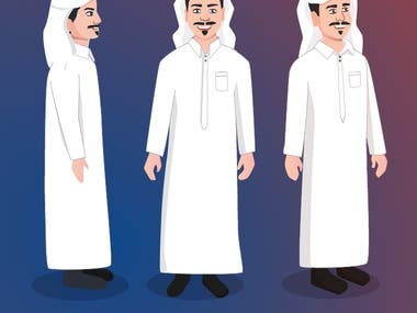 Arabic Saudi character design