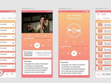Mobile App UX/UI design