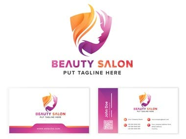 Logo design with business card
