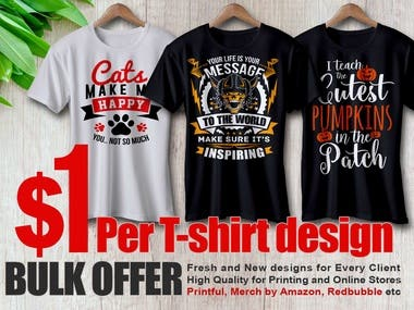 Best Three T-shirt Design.