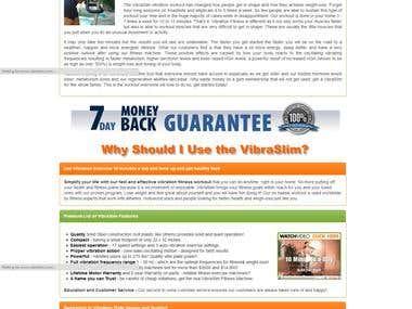 Vibration Exercise Machine