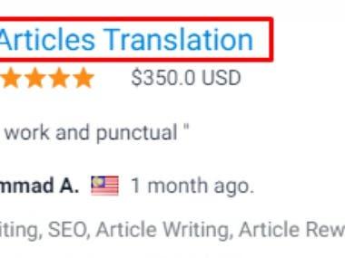 Website translation English to Thai
