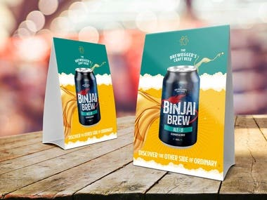 Design a table standee to promote beer