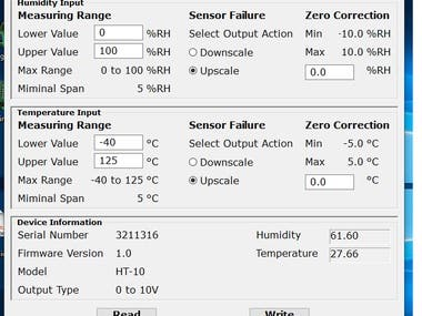 Humidity Temperature Meter Frontend