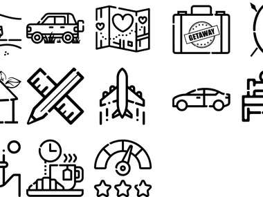 Travel Website Icons