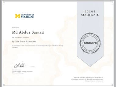 Python Data Structure- Univ. of Michigan