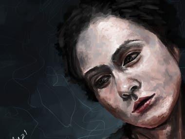 Numb (Digital Portrait Painting)