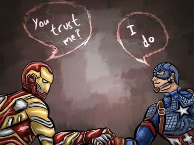 Tony and Cap: Endgame (fanart)
