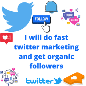I will do very fast twitter promotion and grow follower
