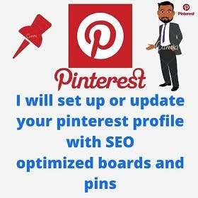 I will set up or update your pinterest profile with SEO opti