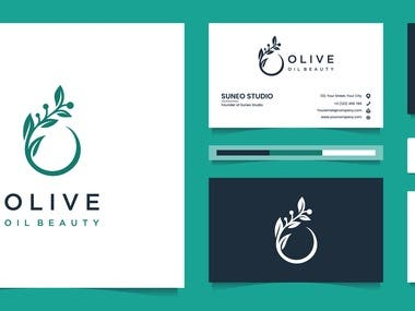 Logo with business cards