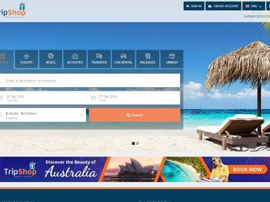 Front-end Development(Booking System)