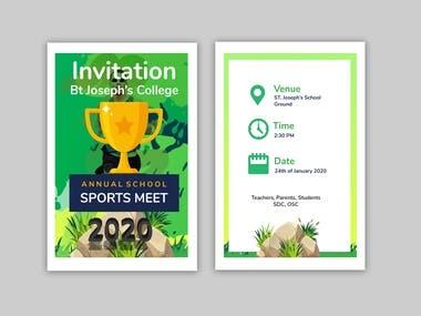 A professional invitation card