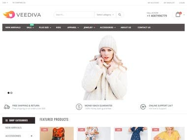 ecommerce website veediva.com
