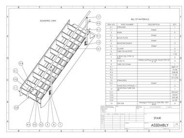STAIR - MODELING AND FABRICATION DRAWING