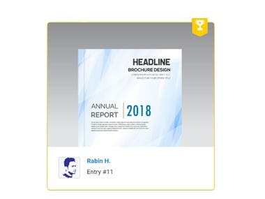 Design a Financial report cover and section pages