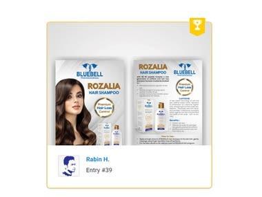 Flyer design A5 anti hair loss shampoo