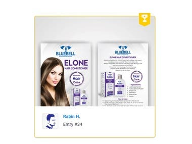 Flyer A5 hair conditioner new product in market